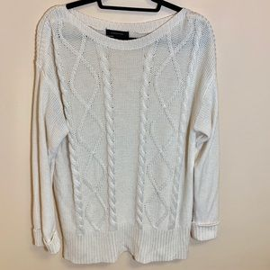 Atmosphere Cream Soft Cable Knit Sweater